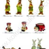 фигури на зайчета, калинки, птички