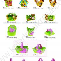 кошнички във формата на къща, петле, кокошка,