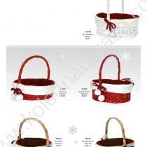 кошници в бяло и червено