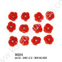 цветчета бутониери червени