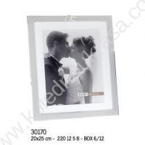 рамка за сватбена снимка 20/25 см с пръстени
