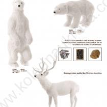 Големи коледни фигури на мечка и елен. Движещи се!